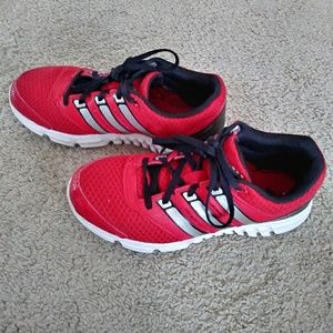 Adidas red sneakers!